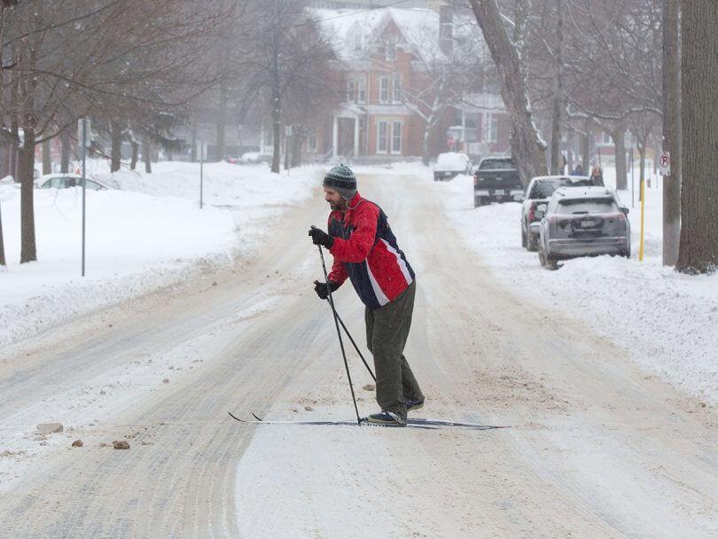 Janvier : retour à la maison et à l'hiver
